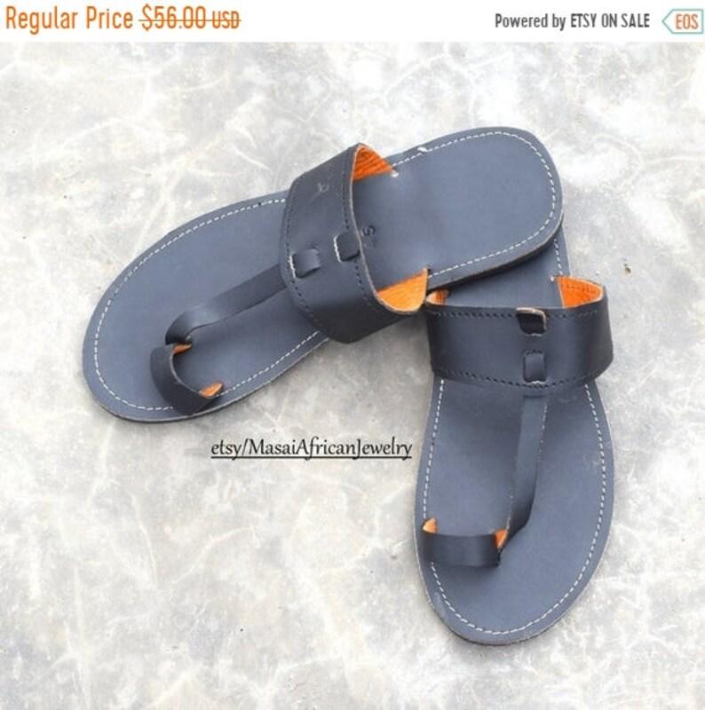 ON SALE MEN'S Leather Sandal Africa Sandal African image 0
