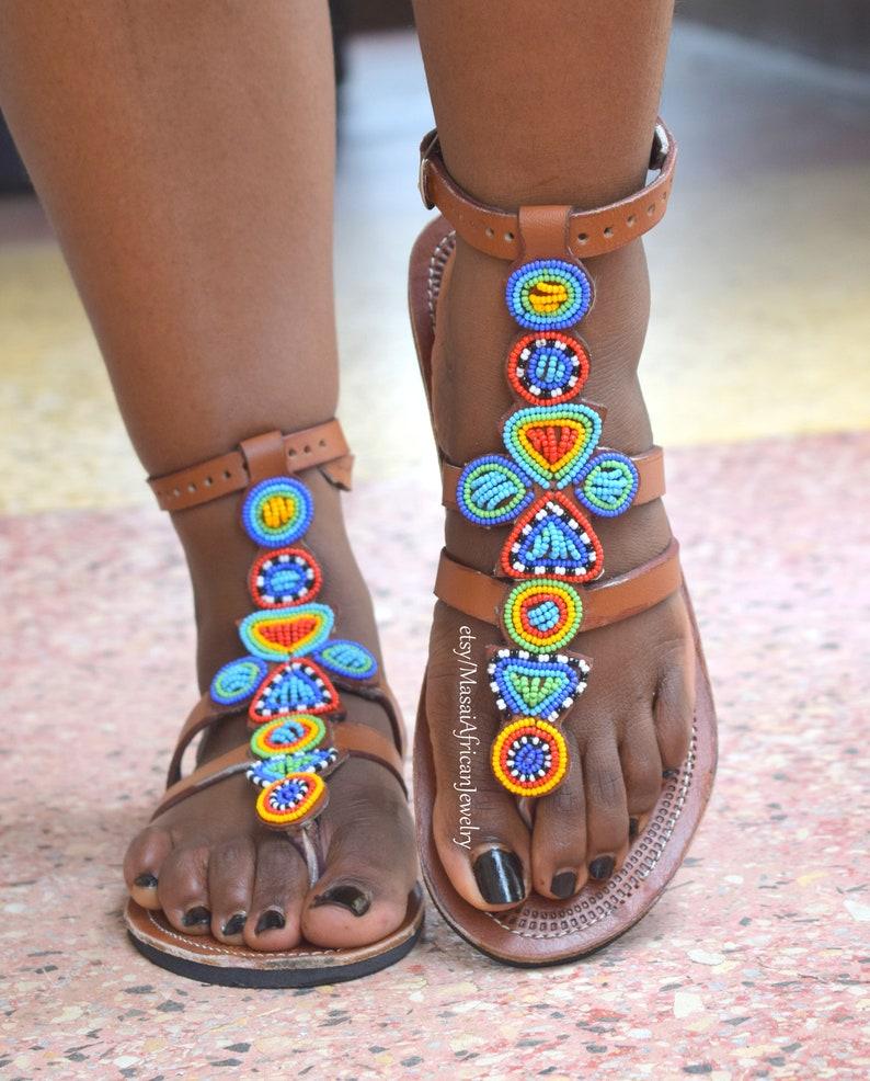 9782524fc ETHNIC SANDAL Tribal Sandal Bohemian Shoe Africa Sandal | Etsy