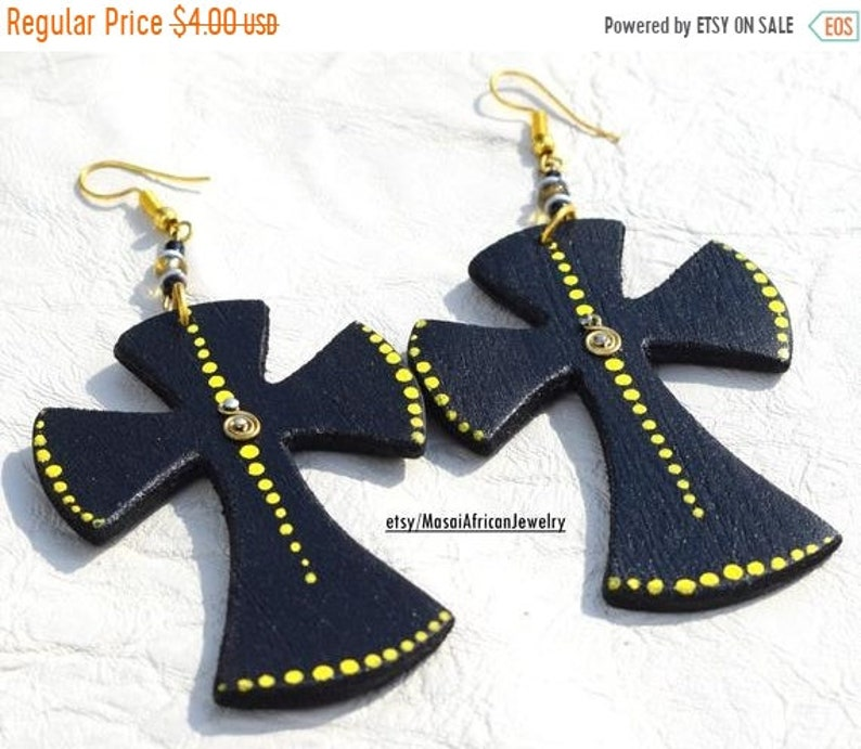 ON SALE GIFT For Her Gift For Mom African Earrings African image 0