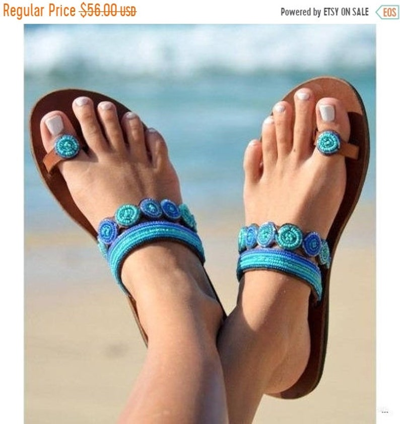 ON SALE Africa Sandal for women Masai Sandal Kenya Sandal image 0