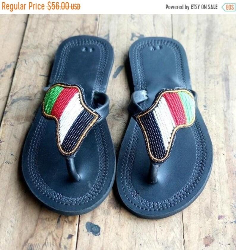 ON SALE AFRICA Shaped Sandals African Sandals Greek Sandals image 0