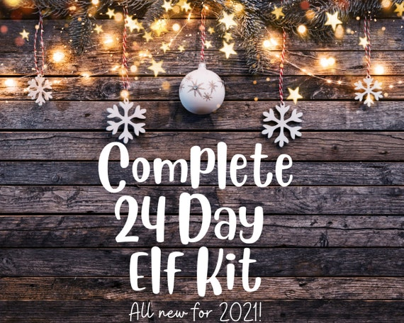 Elf Christmas Kit complete setups 24 days no work shelf set