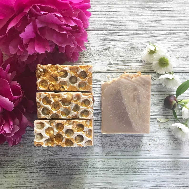 Honey Almond Creme Artisan Milk Soap image 0