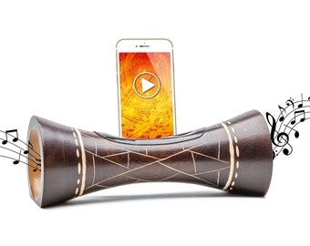 WOODEN BLUETOOTH SPEAKER natural wooden amplifier for mobile phone original gift iphone support and wooden docking station