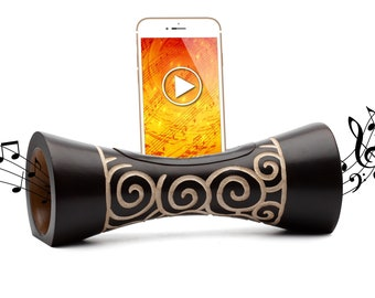 WIRELESS wooden PRESED FOR TELEPHONE amplifier natural iphone acoustic speaker docking station support iphone idea Gift