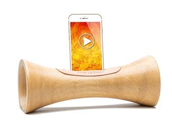 NATURAL WOODEN SPEAKER FOR TELEPHONE AMPLIFIER ECOLOGICAL ACOUSTIC SPEAKER DOCKING STATION SUPPORT IPHONE IDEA CHRISTMAS GIFT