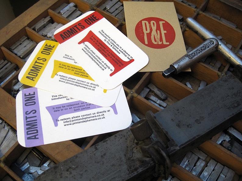 Letterpress Workshop Gift Voucher  Introduction to image 0