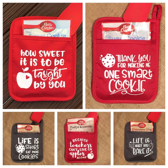 Pot Holder Svg: Pot Holders/Oven Mitts With Sayings Teacher Gift