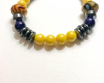 Azul Amarillo Beaded Bracelet