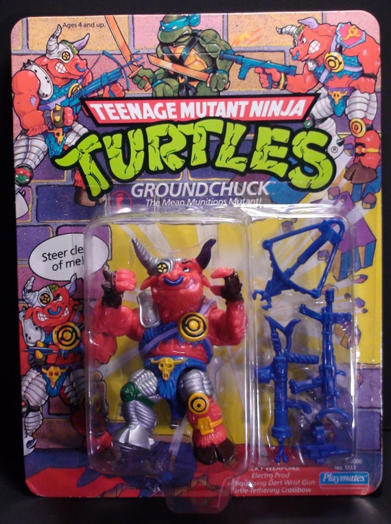 1991 Teenage Mutant Ninja Turtles Groundchuck Action Figure Etsy