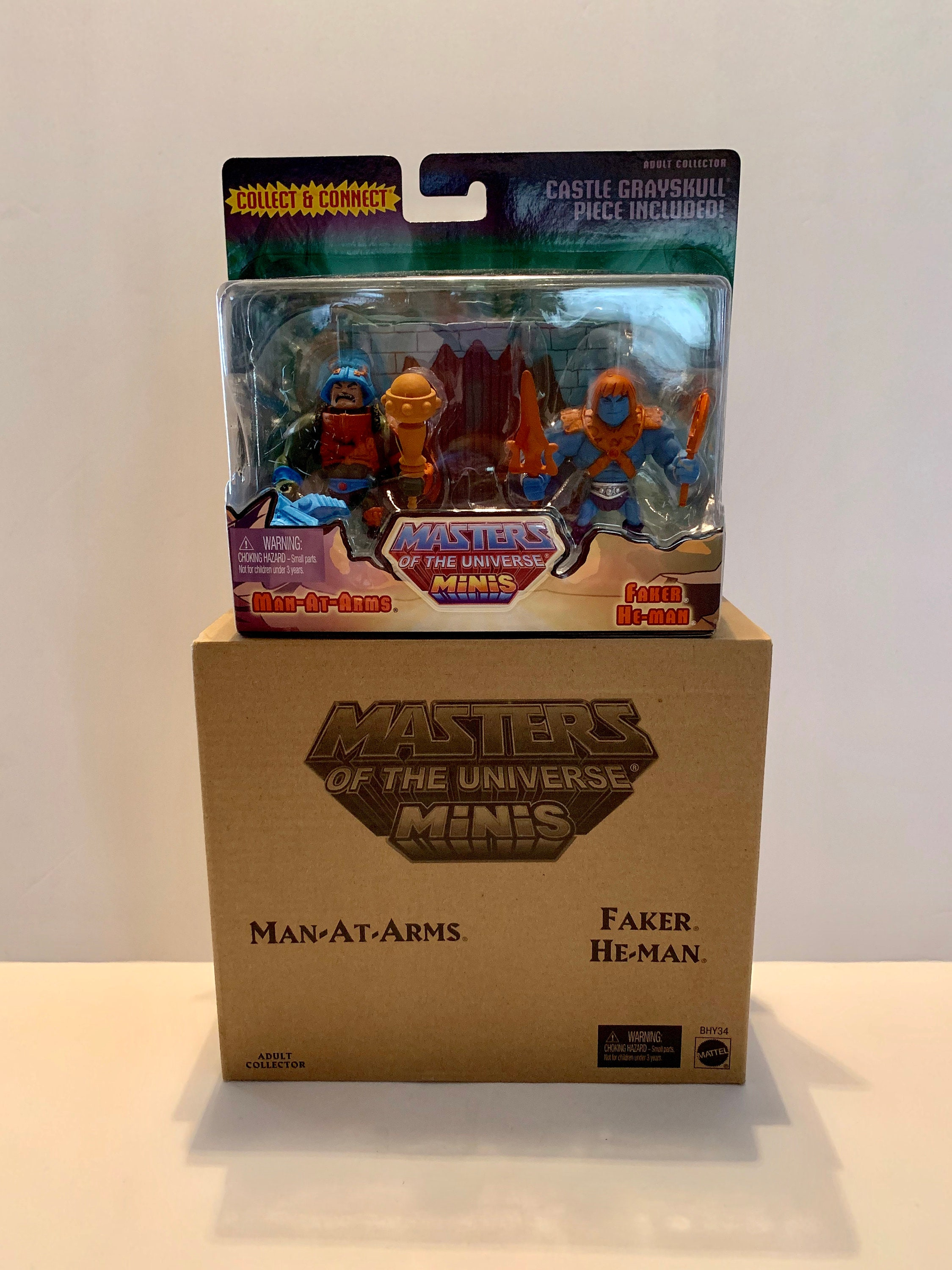 Adult Cd Universe man-at-arms & faker he-man mattel masters of the universe