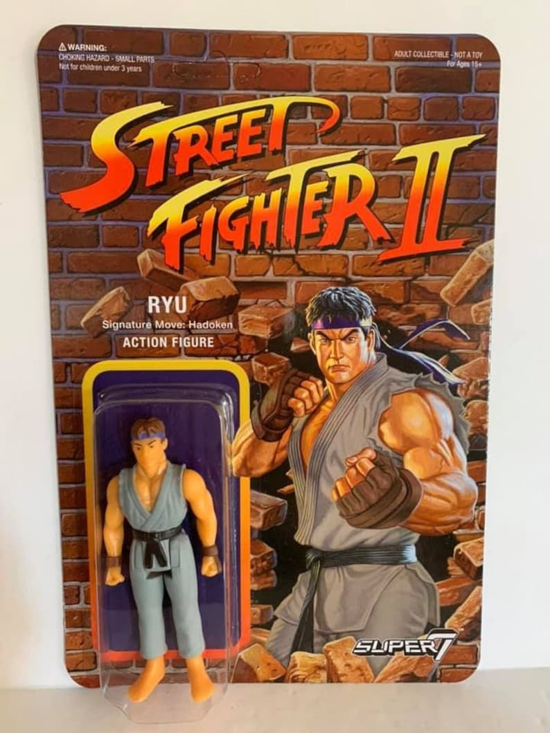 Super7 Street Fighter II Ryu ReAction Figure New Sealed Package