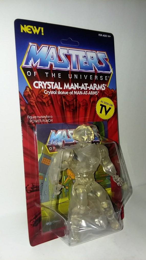 Super 7 Masters of the Universe MOTU Vintage Crystal Man-At-Arms