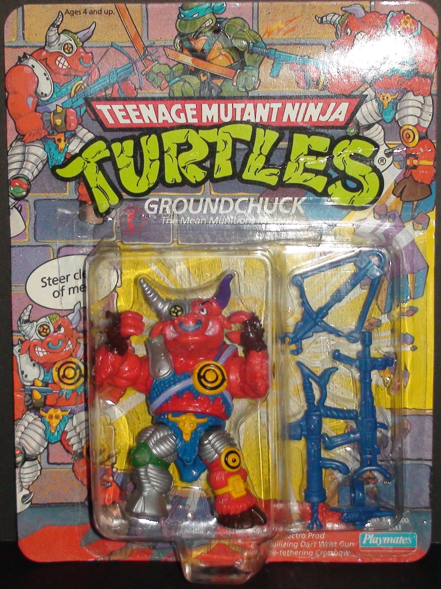 1991 Groundchuck Teenage Mutant Ninja Turtles Action Figure New
