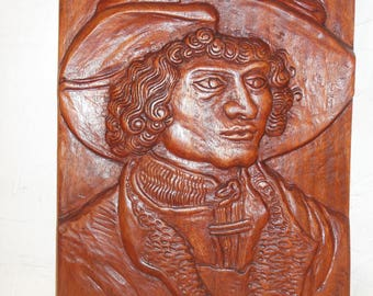 Art, Wood Wall Sculpture, Hand-Carved Wood Relief