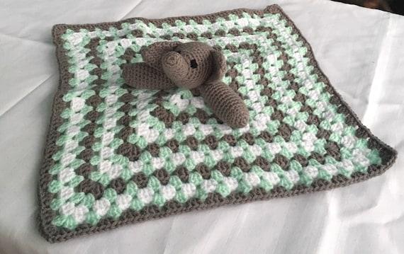 Elephant Lovey Security Blanket Crochet Elephant Baby | Etsy | 359x570