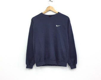 1e73b44e8bc5 Vintage Nike Small logo sweatshirt spellout sweatshirt Black Pullover Jumper  Sweater Hip Hop Swag