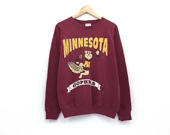 4eeb8936d Vintage Minnesota Sweatshirt Biglogo Spellout Pullover Jumper Vintage 90 s