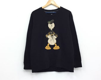 1d2a6a6dccd Vintage Donald Duck Sweatshirt Biglogo Cartoon Animation Character Biglogo