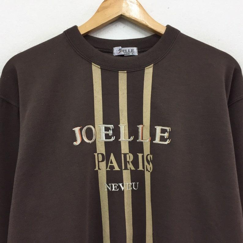 Rare!!Vintage Jo Elle Paris Sweatshirt Biglogo Spellout Pullover Jumper Hiphop Brand Swag