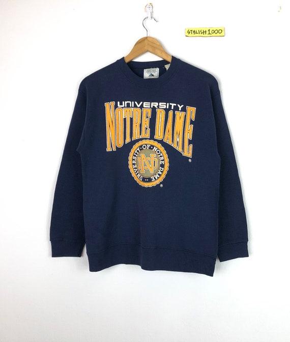 Vintage 90s Majestic  Notre Dame University Fighting Irish Kangaroo Pullover
