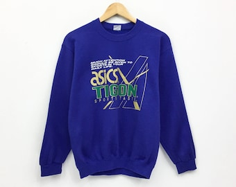 Rare!!Vintage Asics Sweatshirt Sportswear  pullover jumper