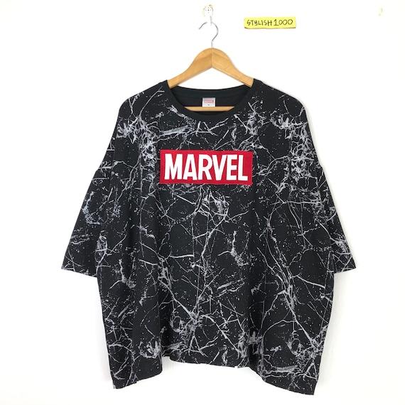 Rare!! Marvel Comics Tshirt Small logo Embroidery