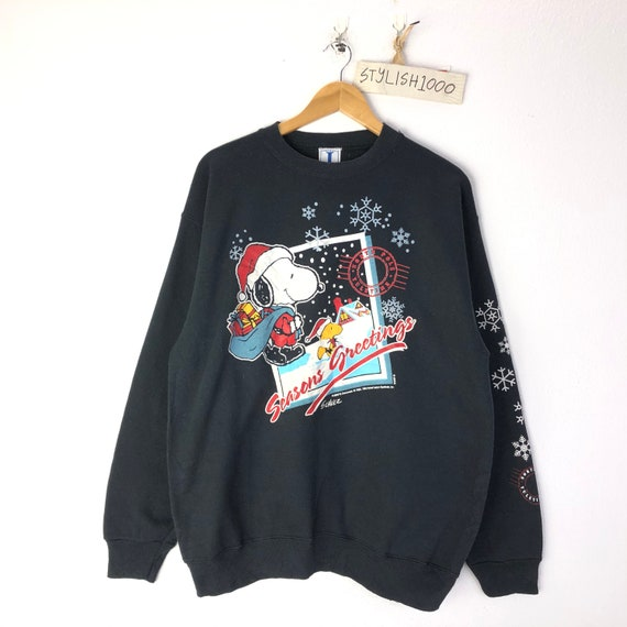 Rare!!Vintage Snoopy Peanuts Sweatshirt  Biglogo Character cartoon animations pullover jumper
