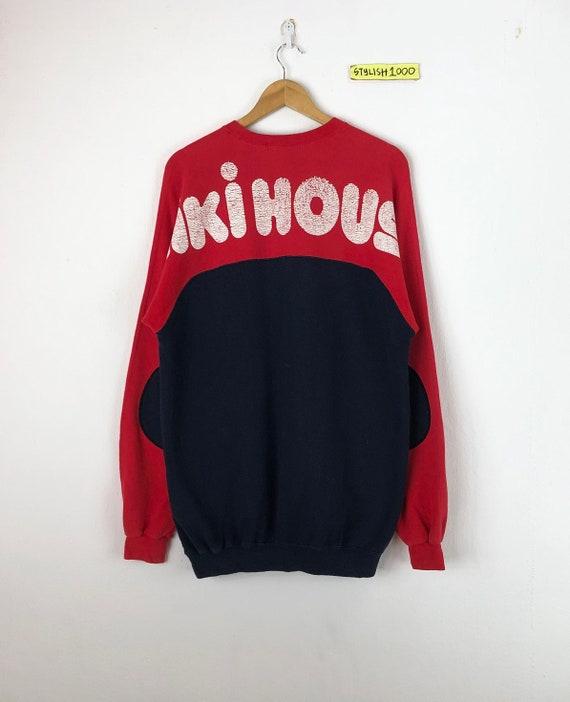 Vintage miki house  Sweatshirt Biglogo sports active wear Pullover Jumper made in Japan vintage men clothingVintage men clothing