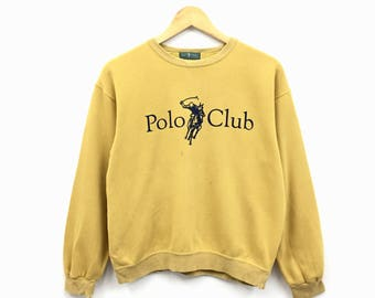 Rare!!Vintage Polo Club Biglogo sweatshirt