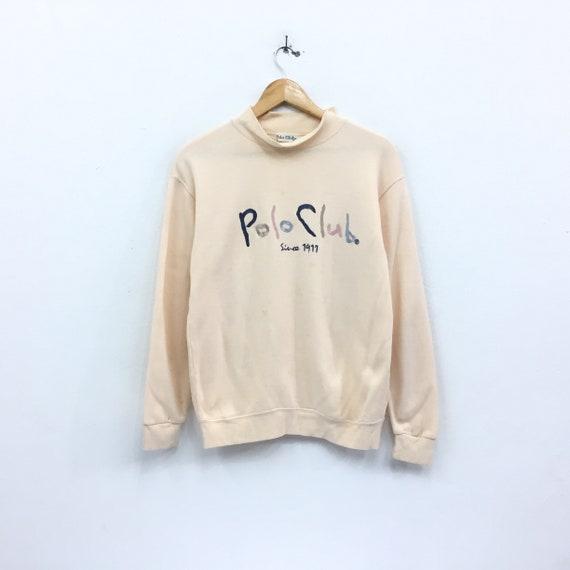 Rare!!POLO CLUB Multicolour Embroidery Spell Out Big Logo Polo Club Unisex Tshirt Clothing Size Medium
