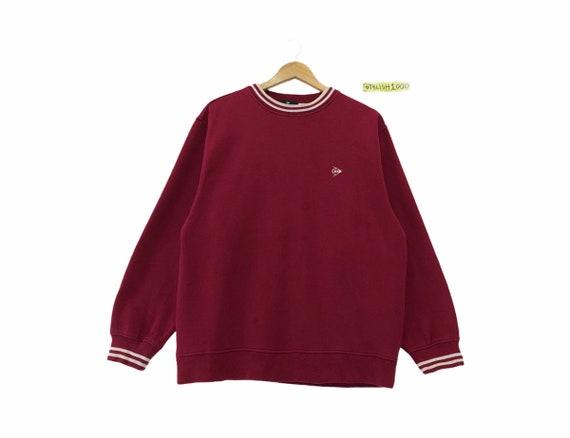DUNLOP MOTORSPORT D.M.S sweatshirt spellout embroidered small logo. pocket sweatshirt..vintage sweatshirt . size L