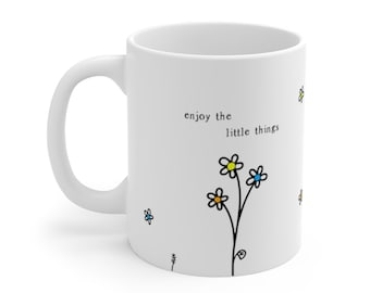 Every Little Thing Is Gonna Be Alright Three Birds White Mug Funny Gift Cup