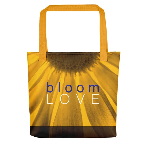 bloom love floral tote bag series 9 yellow  2d050290aeebe