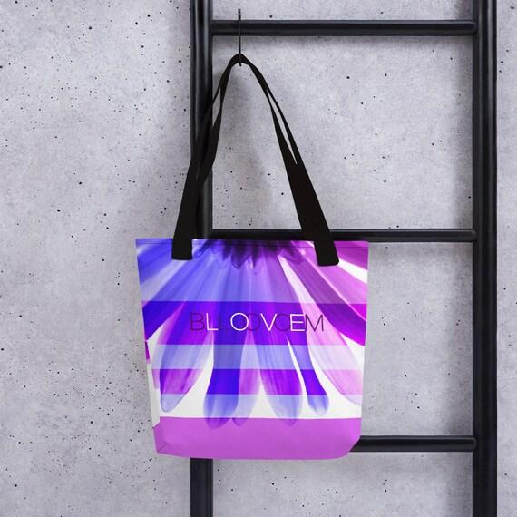 bloom love floral tote bag series 5 gradient blue   purple  296f345609c81