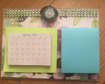 Post It Note and Calendar Holder