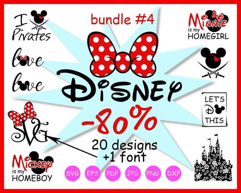 Disney Svg Bundle Svg Files Minnie Monogram Svg Mickey Mouse Etsy