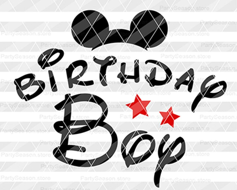 Disney Geburtstag Junge Svg Geburtstag Shirt Mickey Mouse Svg Etsy