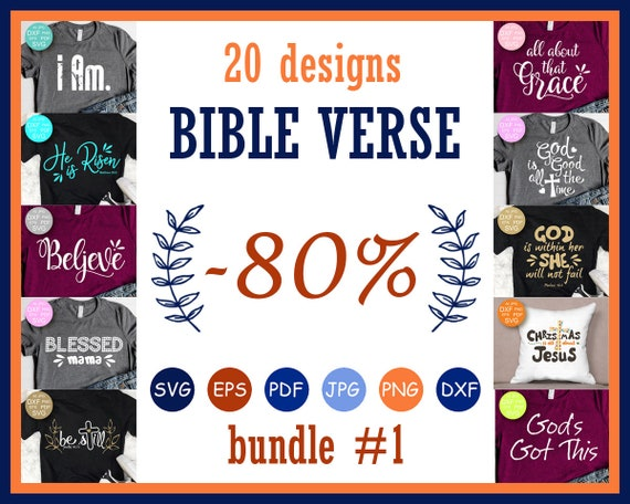 Bundles Svg Files Bundle Quotes Bible Verse Svg Christian Svg Etsy