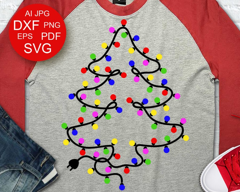 Christmas Tree Svg Decor Merry Christmas Garland Vector File Etsy