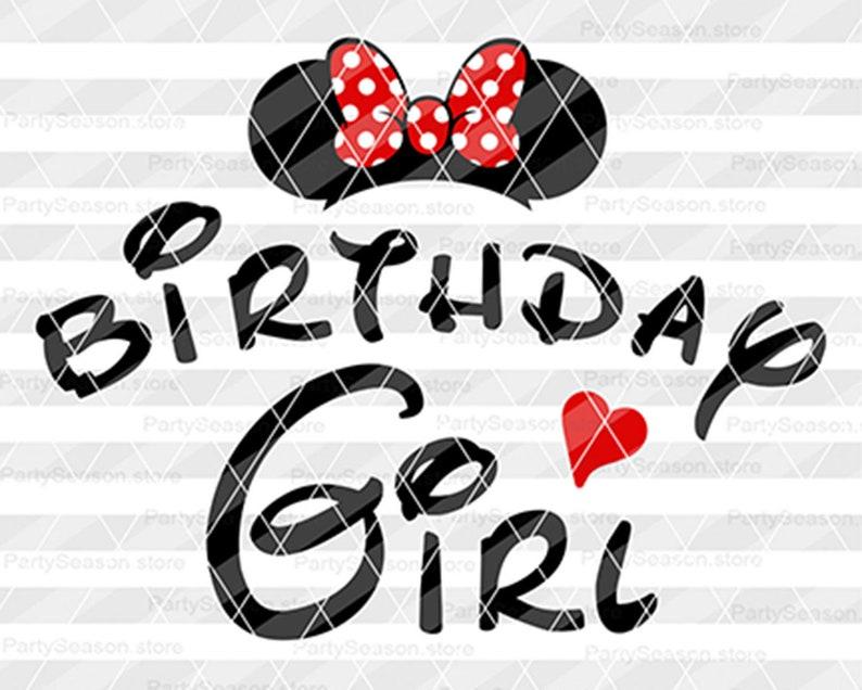 Geburtstagskind Minnie Svg Disney Geburtstag Mädchen Svg Etsy