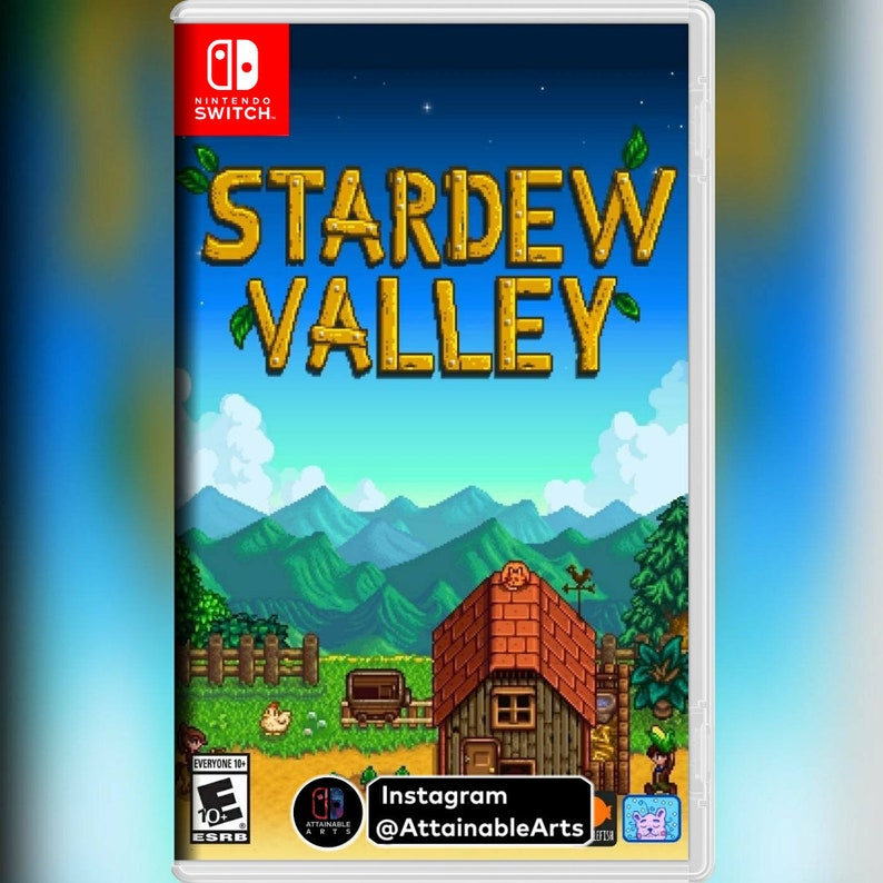 Stardew Valley: Game Covers/Custom Cases (Nintendo Switch, 2017) - NO GAME  INCL