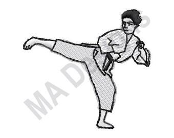 SchöN Marineblaue Herren-krawatte Mit Stickerei Karate Kick Mma Von Frederick Thomas Krawatten & Fliegen Herren-accessoires