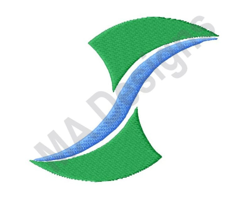 Stream And Grass - Machine Embroidery Design