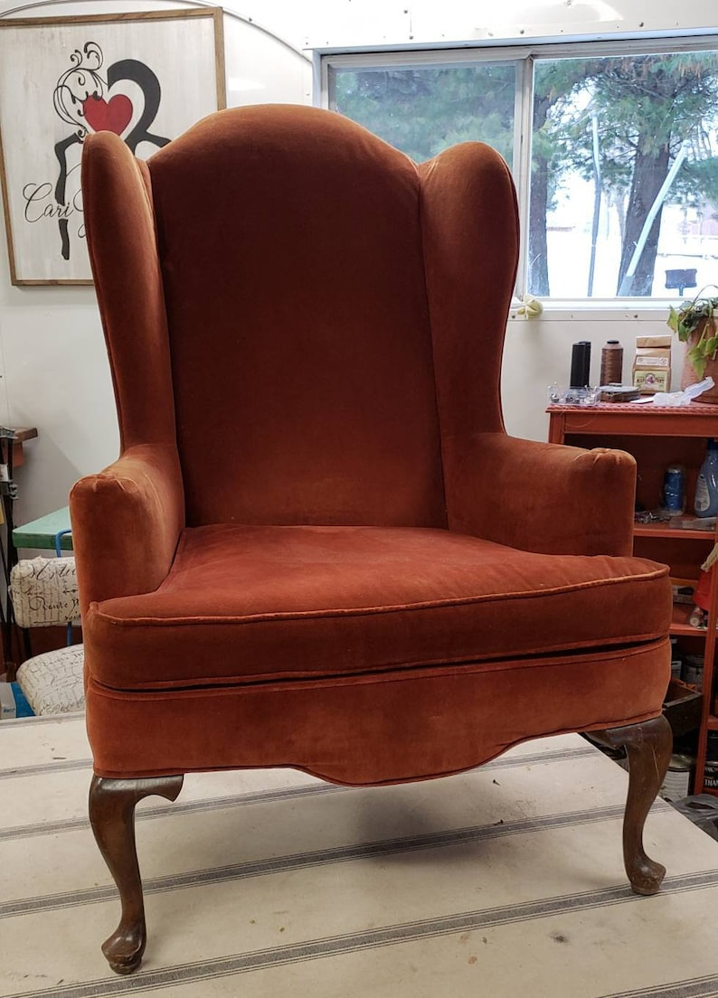 Tremendous Frame Vintage Lane Wingback Accent Chair For Full Restoration Reupholstery Customize Upholstery Recreate Your Design Bralicious Painted Fabric Chair Ideas Braliciousco