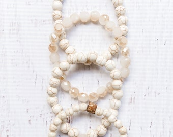 Neutral Beaded Stack Set (4)