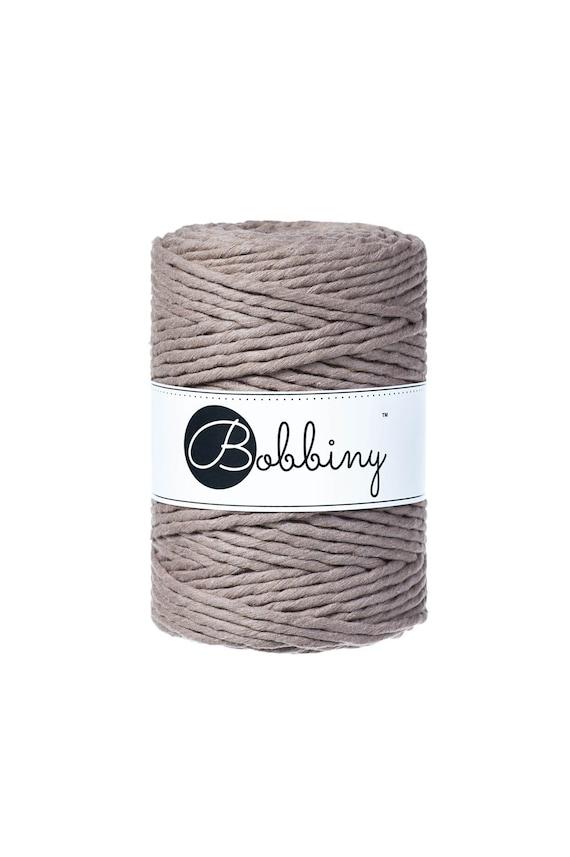 New 100/% Cotton FREE P/&P 100m 5mm Charcoal Grey Bobbiny rope//cord