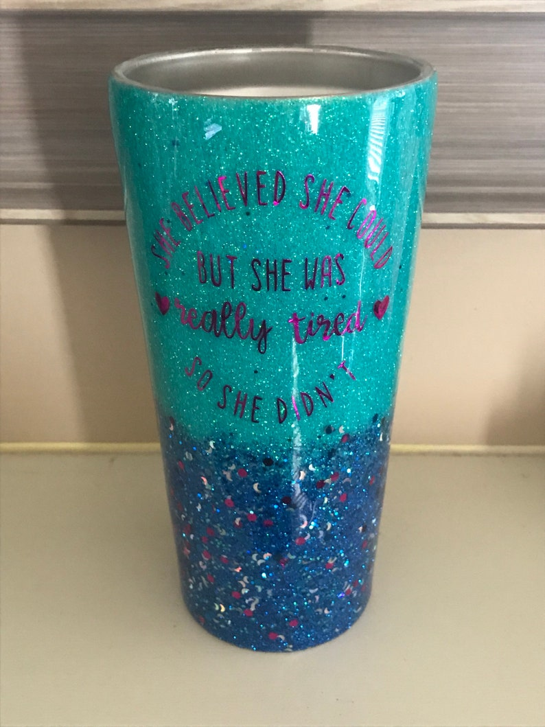 Glitter Tumbler, Custom Glitter Hogg Tumbler, Funny Customized Glittered  Cup, Mother's Day Gift Ideas, Funny Decal Glitter Travel Cup