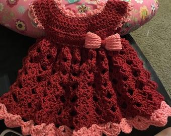 Crochet 18-24 month baby dress
