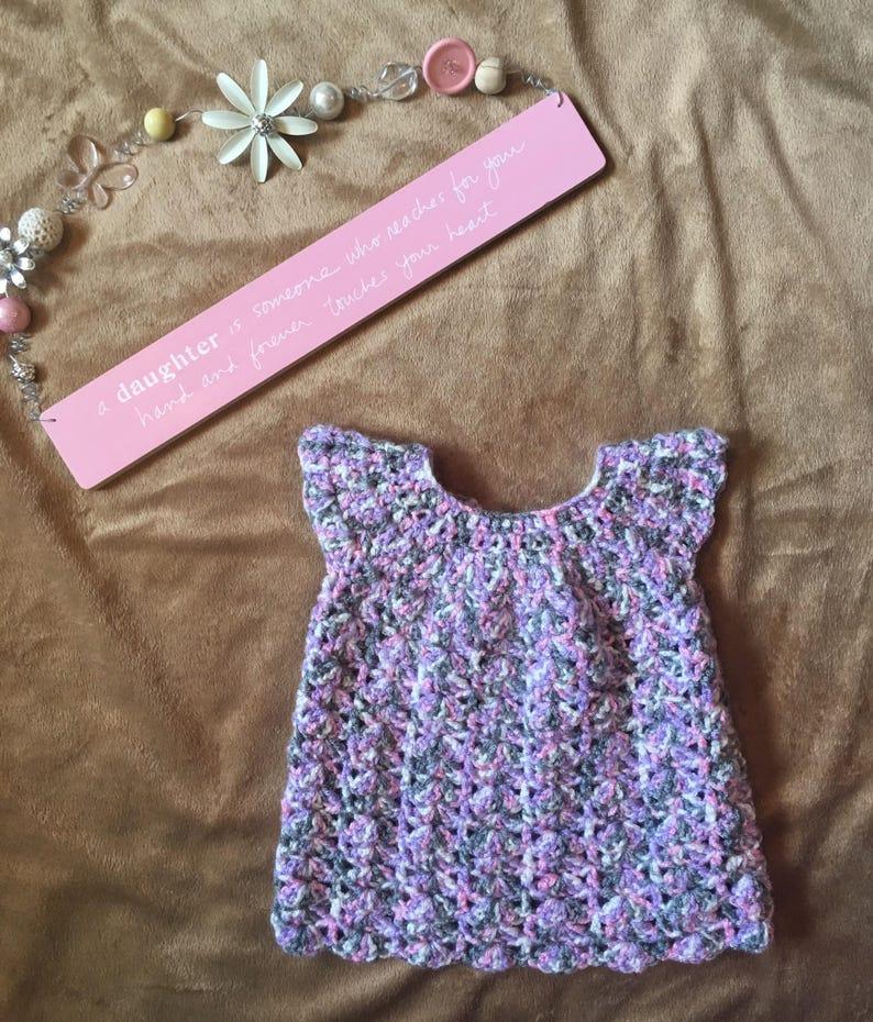 Crochet baby dress